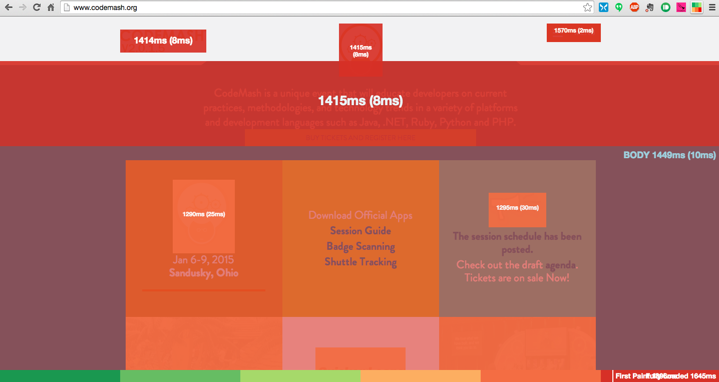 Mark Zeman's Heatmap bookmarklet and extension