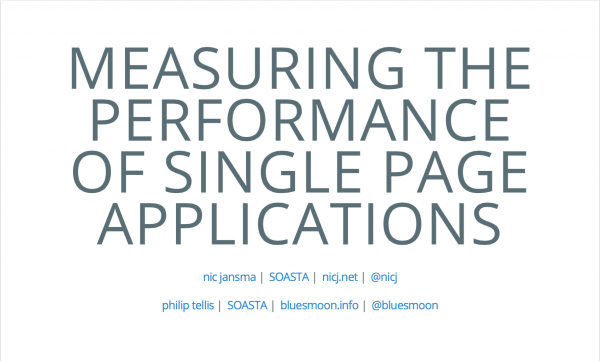 Measuring the Performance of Single Page Applications