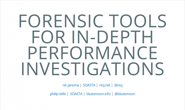 Forensic Tools for In-Depth Performance Investigations